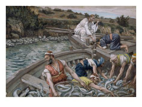 james jacques joseph tissot the first miraculous draught of fish illustration for the life of christ c 1886 94 bat1 Feeding the family