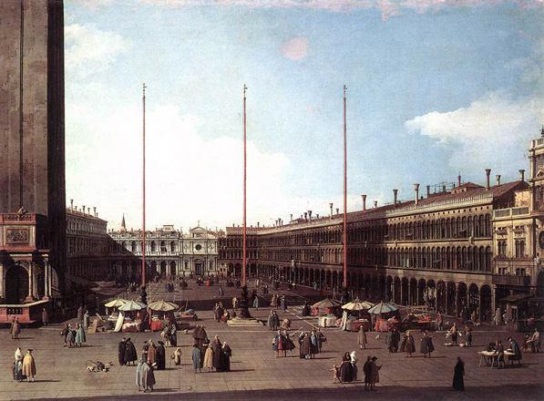 Piazza San Marco Looking toward San Geminiano ca 1735 canaletto Urban renewal