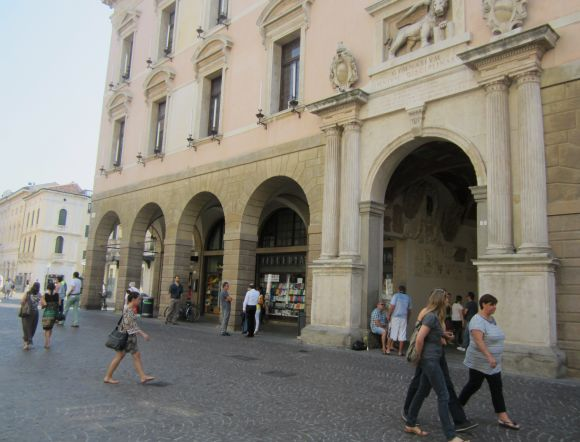 This is the Palazzo del Bo', the 16th-century heart of the University of Padua, where many of the examinations are held.