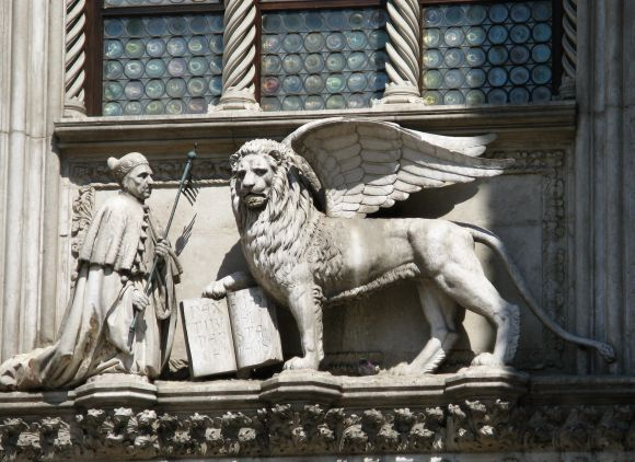 This is a view of what I think we need. I don't mean the doge (especially not this one, Francesco Foscari, who had enough calamities of his own).  I mean the lion. I want this lion to come back and take the situation in hand, in tooth, in claw. He looks like all he needs is a signal from somebody.