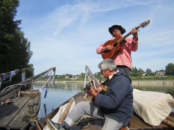 We took a few musicians aboard for the return trip, and their songs of the rivermen of the Loire practically made me get up and dance.