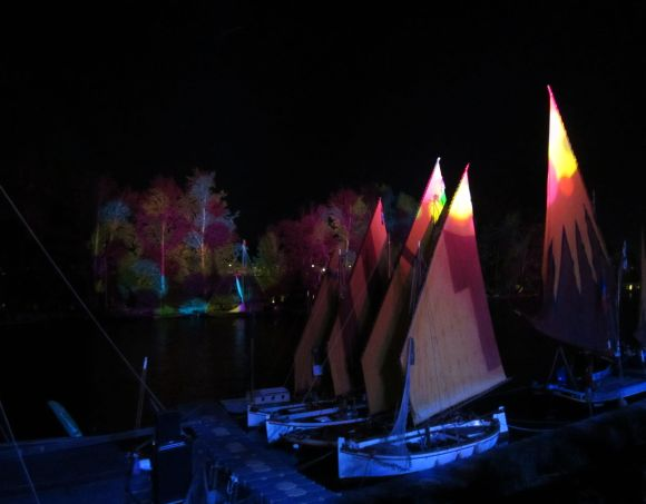 And colored lights played over the boats and river.  It was magical.  I'm going to end the story here.
