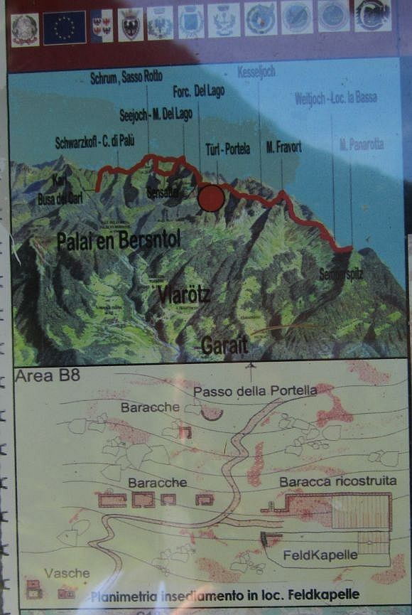 A view of the terrain; the chapel is where the big red dot is placed.