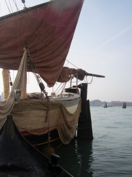"""Il Nuovo Trionfo,"" the only trabacolo still floating, was the perfect vessel for giving that ocean-going vibe.  That and its sails, which were crucially important for blocking out the 21st century just beyond."