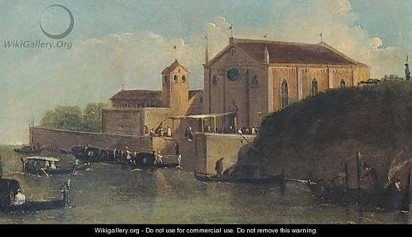 A view of a wedding at a church in the venetian lagoon Giuseppe Bernardino Bison1 Something about George