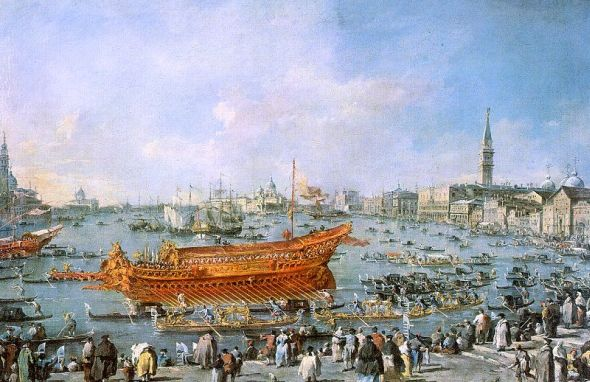 departure of the bucentaur towards the venice lido on ascension day 1770 wedding francesco guardi Something about George