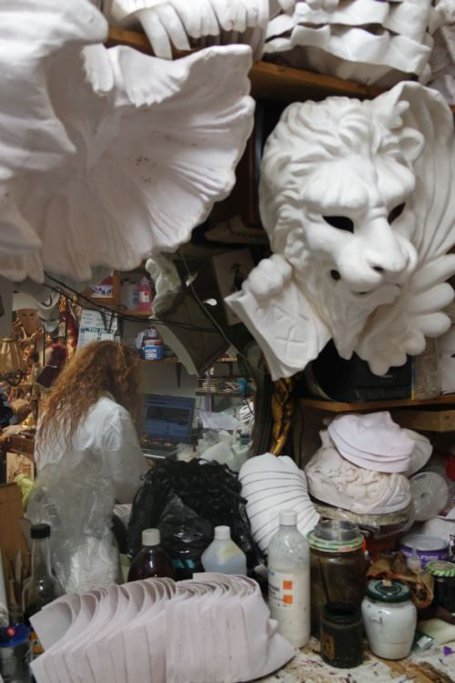 Marilisa Dal Cason toils in her shop making mostly papier-mache', but then she heard the call of the plastic.