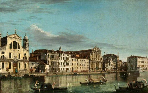 The church of Santa Lucia in Venice, as seen by Canaletto in the mid 1700's. (c) National Galleries of Scotland; Supplied by The Public Catalogue Foundation