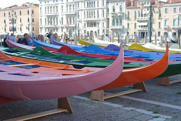 I had never seen an entire fleet of new Venetian boats, nor would I ever have thought I'd see one. that were completely new. It was thrilling, from the perfect gleam to the perfume of still-recent paint.