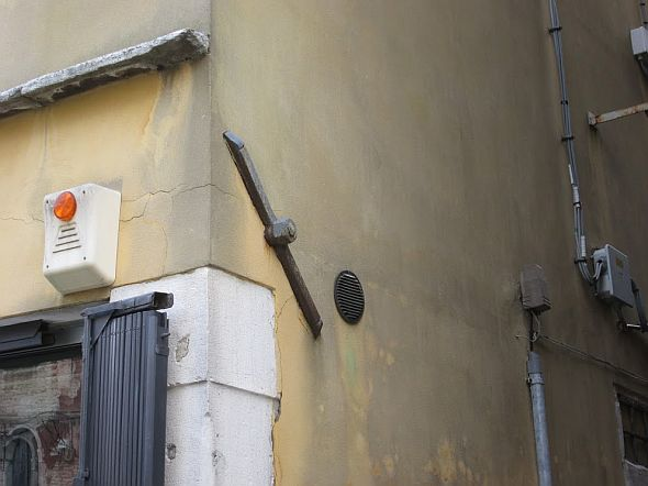 "And while we're on the subject of ""Water, Avoidance Of,"" spare a glance at this clamp. Venetian houses depend on them in order to stay foursquare on their feet."